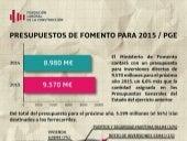 Infografia sobre los PGE 2015 - MInisterio de Fomento