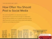 Social Media Frequency: How Often to Post to Twitter, Facebook, and More