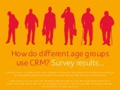 How do different age groups use CRM? Survey results....