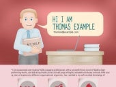 Infographic resume of corporate sales manager