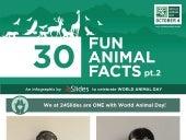 Infographic - World Animal Day - 30 Fun Animal Facts pt 2