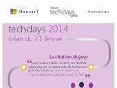 Techdays 2014 : bilan de la première journée