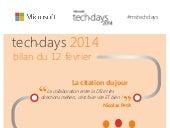 Techdays 2014 : bilan de la deuxième journée