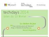 Techdays 2014 : bilan de la troisième journée