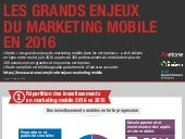 Infographie : Les enjeux marketing mobile en France