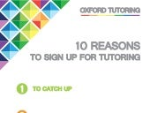 10 Reasons to Sign up for Tutoring