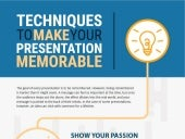 Techniques to make your presentation more memorable