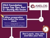 ITIL® Foundation Exam Top Tips - Part 2 - During the Exam - Infographic