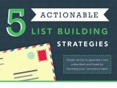 5 Actionable List Building Strategies (Infographic)
