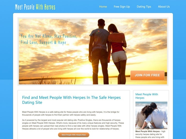 are herpes dating sites safe