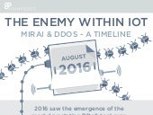 The Enemy Within IoT - A Mirai DDoS Timeline