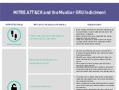 Mitre ATT&CK and the Mueller GRU Indictment: Lessons for Organizations
