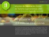 INFOGRAFÍA Monitor de Reputación Online de Restaurantes de Destinos Gastronómicos españoles 2015