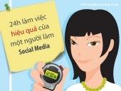Một ngày làm việc của chuyên gia social media tools infographic