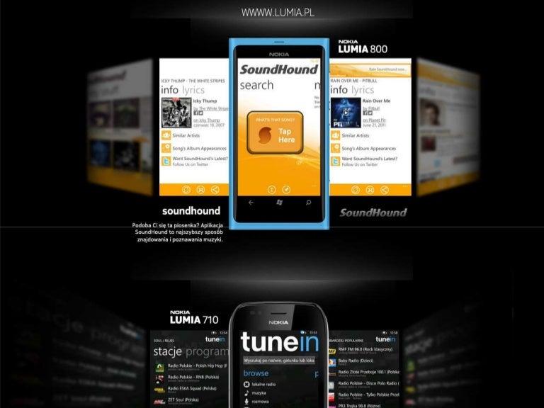 Aplikacje muzyczne na Nokia Lumia: SoundHound, tunein