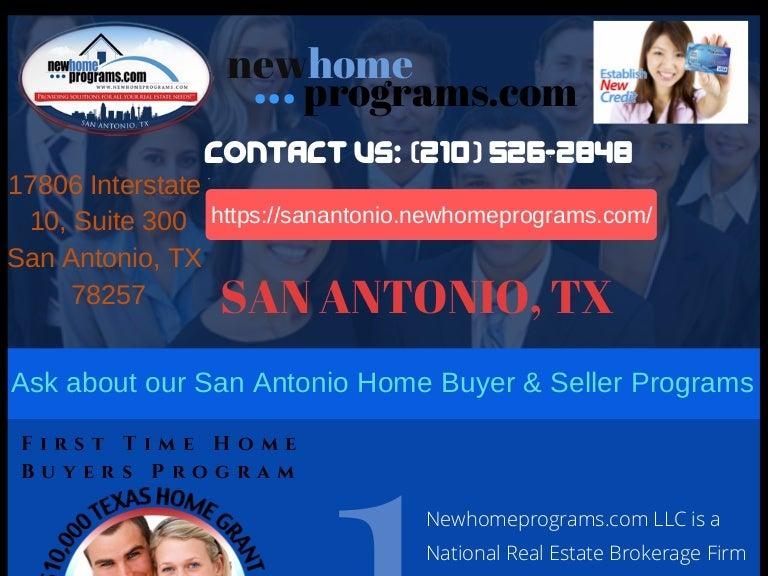 San Antonio First Time Home Buyer Programs | $45,000 Down