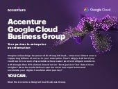 Overview - Accenture Google Cloud Business Group