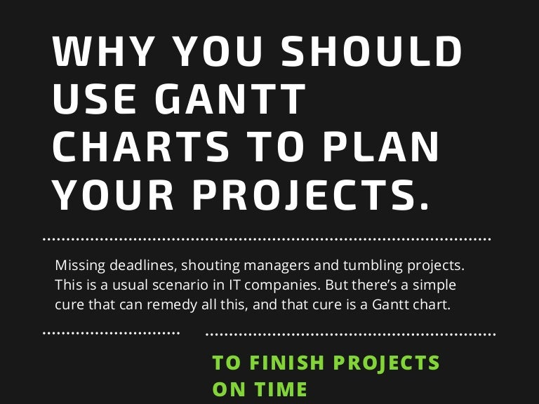 Why You Should Use Gantt Charts To Plan Your Projects