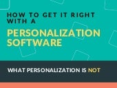 How to get it right with a personalization software (infographic)