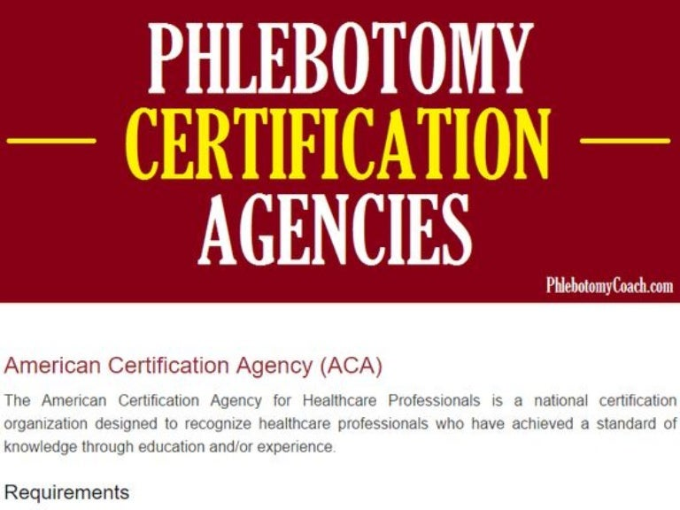 Phlebotomy Certification