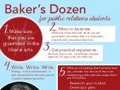Betsy Plank's Baker's Dozen for Public Relations Students