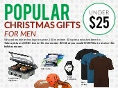 Popular Christmas Gifts For Men Under $25