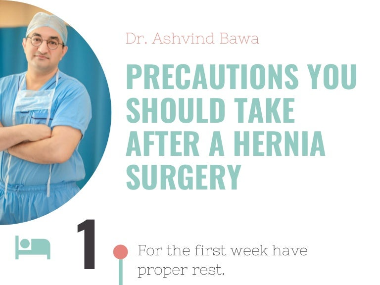 Precautions You should Take After a Hernia Surgery