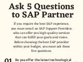 Searching the Best SAP Support Providers – 5 Questions You should ask SAP Partner