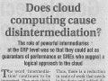 Shyaam Sunder - Does Cloud computing cause disintermediation?