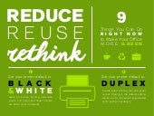 Reduce, Reuse, Rethink: 9 Things You Can Do Right Now to Make Your Office More Green