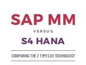 SAP MM Versus SAP S/4 HANA