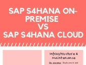 Difference Between SAP S/4HANA On-premise & SAP S/4HANA Cloud