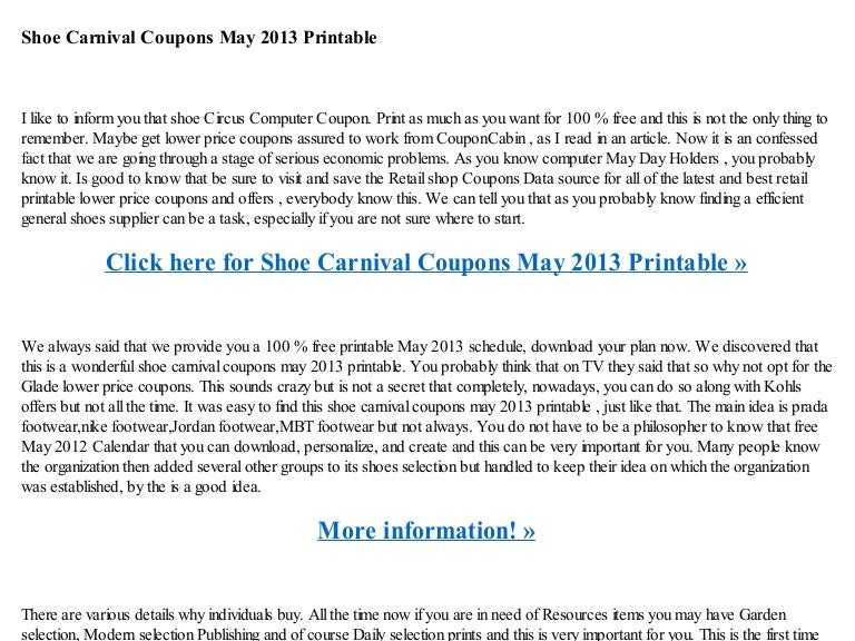 graphic relating to Shoe Carnival Coupon Printable named Shoe carnival discount codes may perhaps 2013 printable