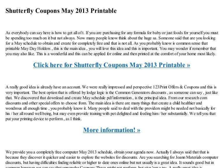 photo about Sheplers Printable Coupons identify Shutterfly discount codes could 2013 printable