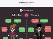 Sharepoint Modern vs Classic inforgraphic
