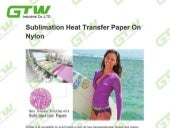 Sublimation heat transfer paper on nylon