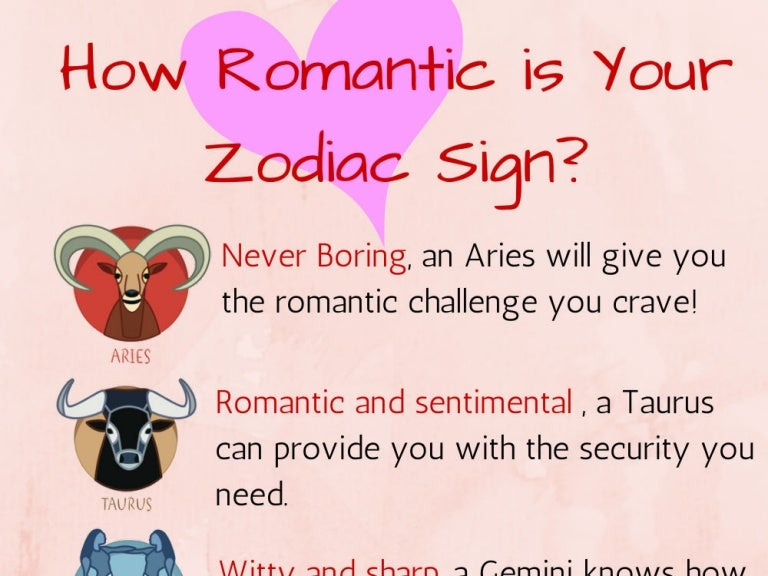 Horoscope most sign romantic Which Zodiac
