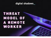 Threat model of a remote worker | Infographic