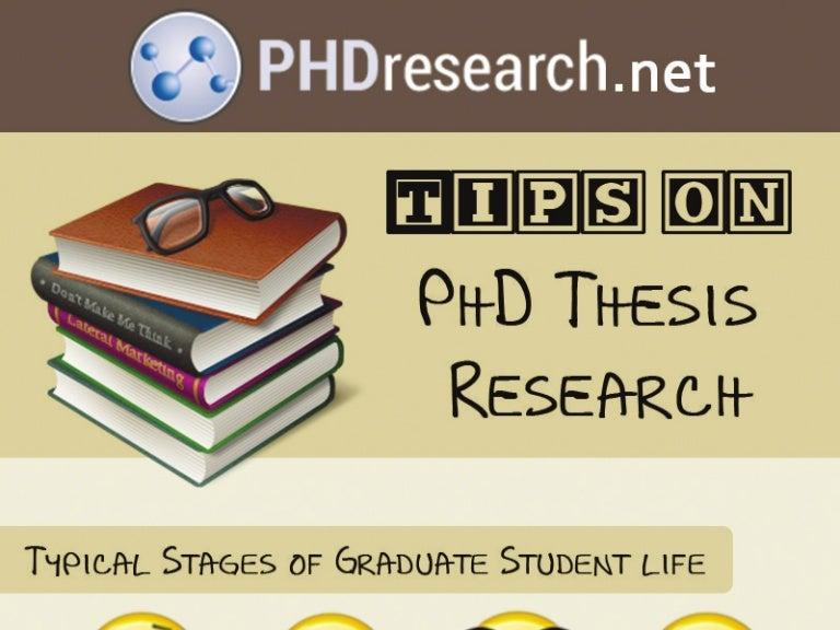 Phd thesis advice