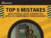 Top 5 Computer Security Mistakes - Infographics