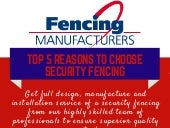 Top 5 reasons to choose security fencing