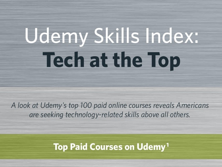 Udemy Skills Index: Tech at the Top