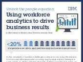 Infographic IBM : Using workforce analytics for business results