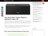 Top 10 the Best Center Channel Speakers Under 500