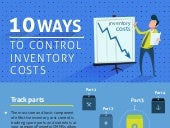 10 Ways to control inventory costs with CMMS  - infographic