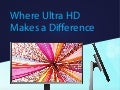 Where Ultra High Definition Makes a Difference for Desktop Productivity