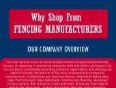 Why shop form fencing manufacturers