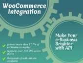 WooCommerce Integration: Make Your e-Business Brighter with API