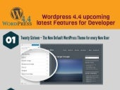 Wordpress 4.4 upcoming latest Features For Website Developer