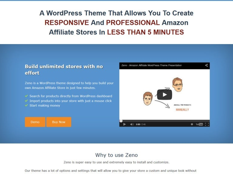 Zeno - Amazon Affiliate WordPress Theme | Build Your Amazon Affiliate…